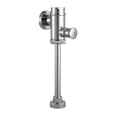 Fluxometro Mecánico para Urinario Botón Directo Cromado